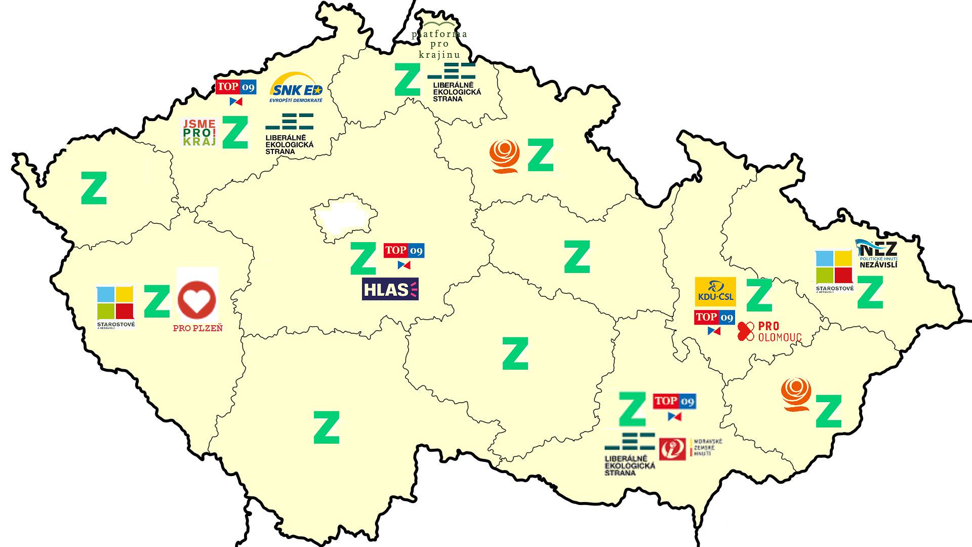 Krajské volby 2020 koho volit